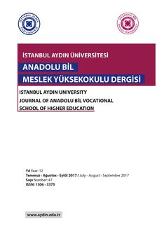 ISTANBUL AYDIN UNIVERSITY JOURNAL OF ANADOLU BIL VOCATIONAL SCHOOL OF HIGHER EDUCATION, iBooks 2.6