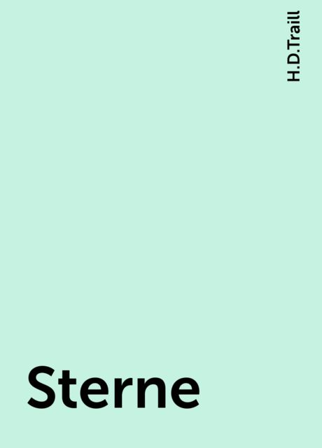 Sterne, H.D.Traill