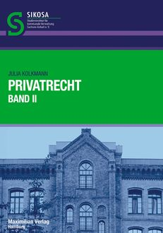 Privatrecht Band II, Julia Kolkmann