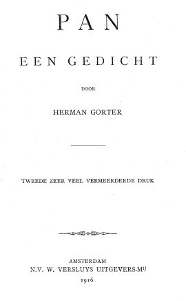 Pan, Herman Gorter