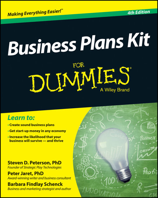 Business Plans Kit For Dummies, Steven Peterson, Barbara Findlay Schenck, Peter E.Jaret