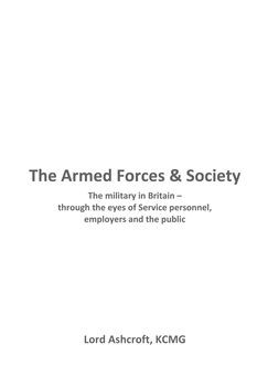 The Armed Forces and Society, Michael Ashcroft