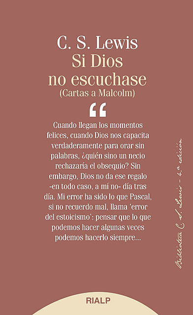 Si Dios no escuchase, Clive Staples Lewis