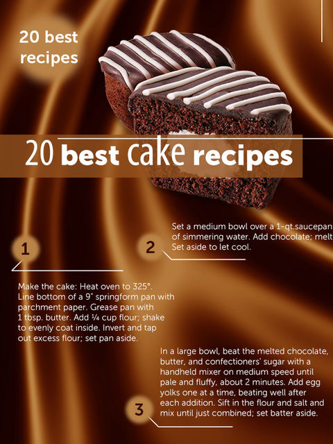 20 Best Cake Recipes, Karen Margaryan