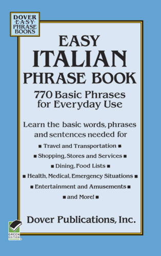 Easy Italian Phrase Book, Dover Publications