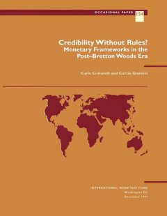 Credibility Without Rules, Carlo Cottarelli