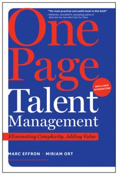 One Page Talent Management, Marc Effron, Miriam Ort