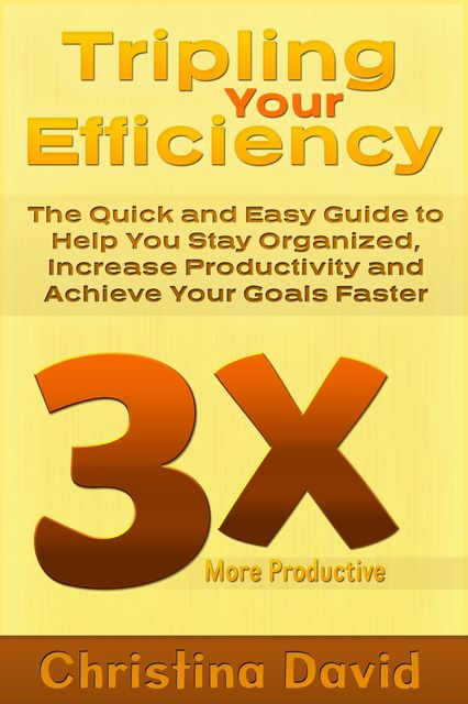Tripling Your Efficiency: The Quick and Easy Guide to Help You Stay Organized, Increase Productivity and Achieve Your Goals Faster, Christina Inc. David