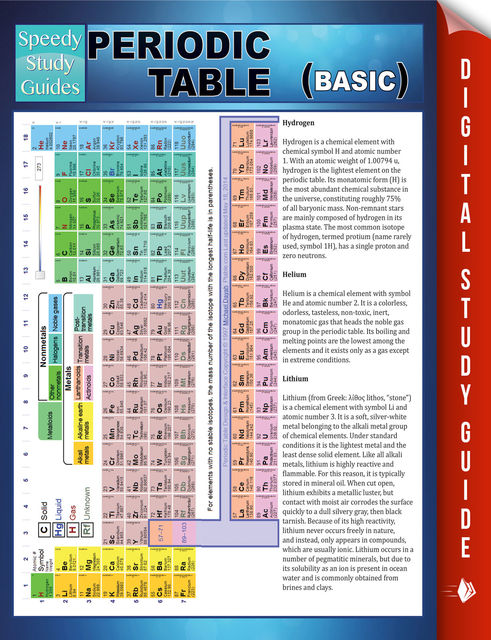 Periodic Table (Basic) Speedy Study Guide, Speedy Publishing