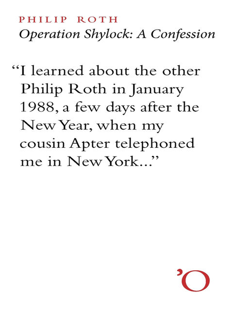 Operation Shylock, Philip Roth