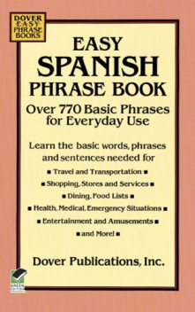Easy Spanish Phrase Book, Dover Publications