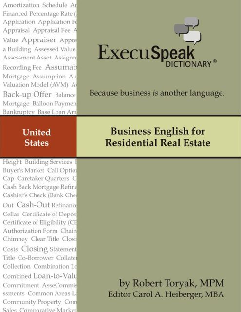 Business English for Residential Real Estate, Robert Toryak