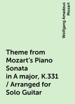 Theme from Mozart's Piano Sonata in A major, K.331 / Arranged for Solo Guitar, Wolfgang Amadeus Mozart
