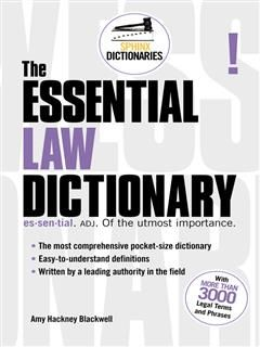 Essential Law Dictionary, Amy Hackney Blackwell