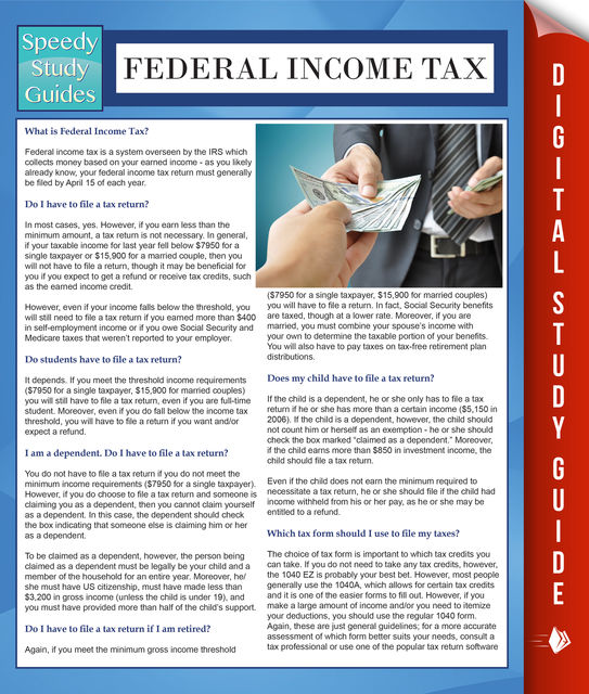 Federal Income Tax (Speedy Study Guides), Speedy Publishing