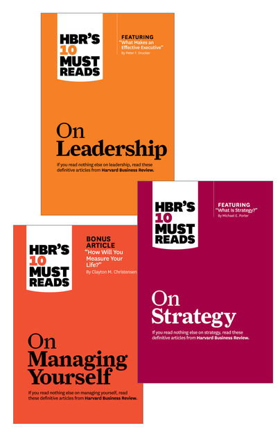 HBR?s 10 Must Reads Leader?s Collection (3 Books) (HBR?s 10 Must Reads), Peter Drucker, Clayton Christensen, Daniel Goleman, Harvard Business Review, Michael Porter
