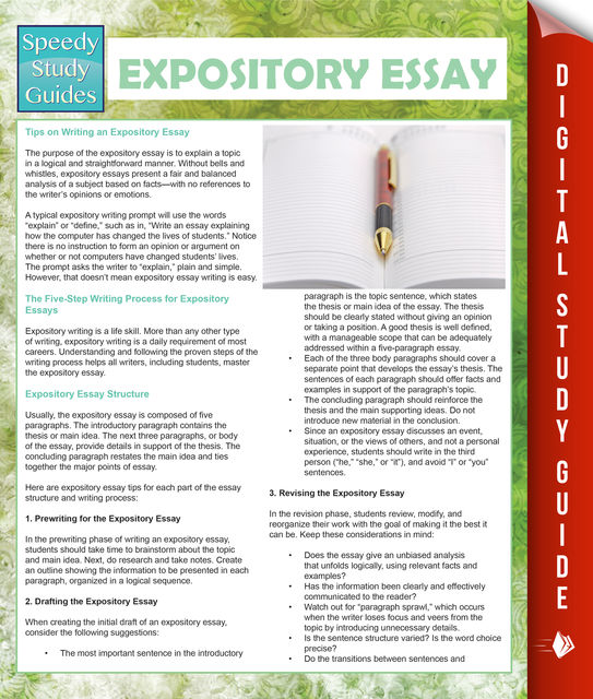 Expository Essay (Speedy Study Guides), Speedy Publishing