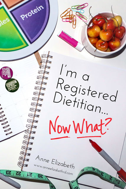 I'm a Registered Dietitian… Now What, Anne Elizabeth