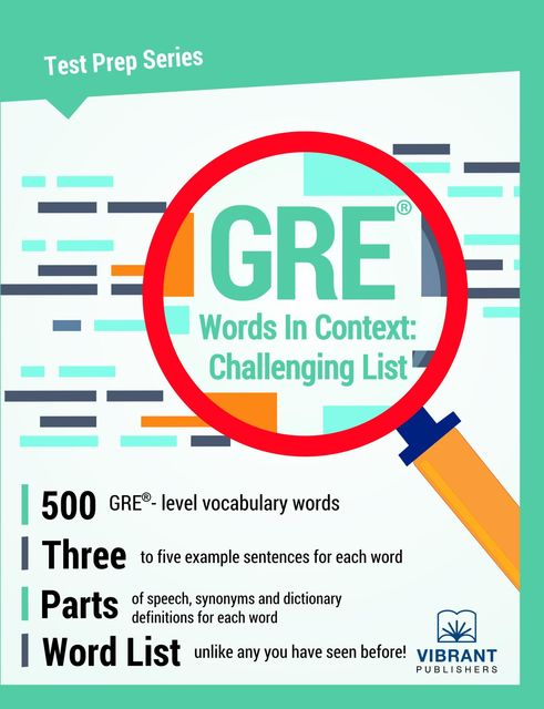 GRE Words In Context, Vibrant Publishers
