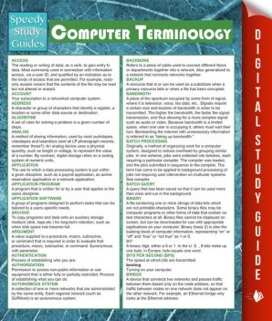 Computer Terminology (Speedy Study Guides), MDK Publishing