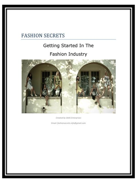 Fashion Secrets, Ariana Speirs