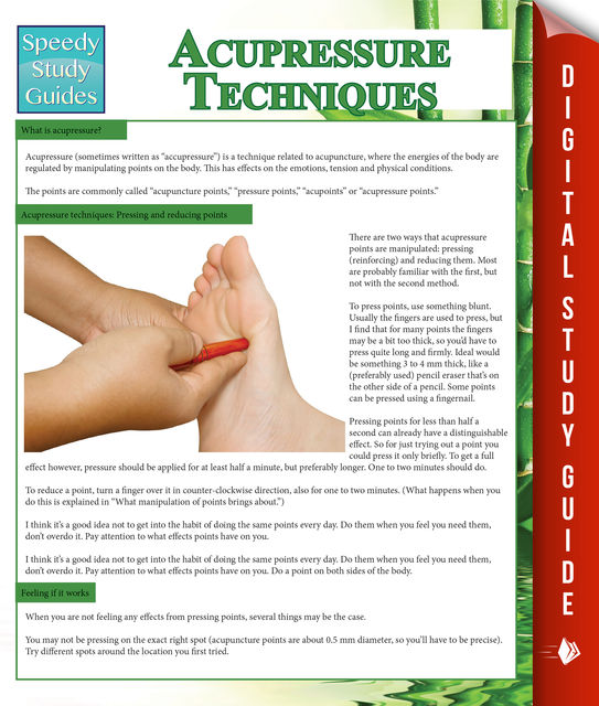 Acupressure Techniques (Speedy Study Guides), Speedy Publishing