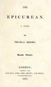 The Epicurean, Thomas Moore