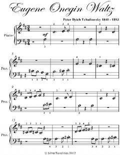 Eugene Onegin Waltz Beginner Piano Sheet Music, Peter Ilyich Tchaikovsky