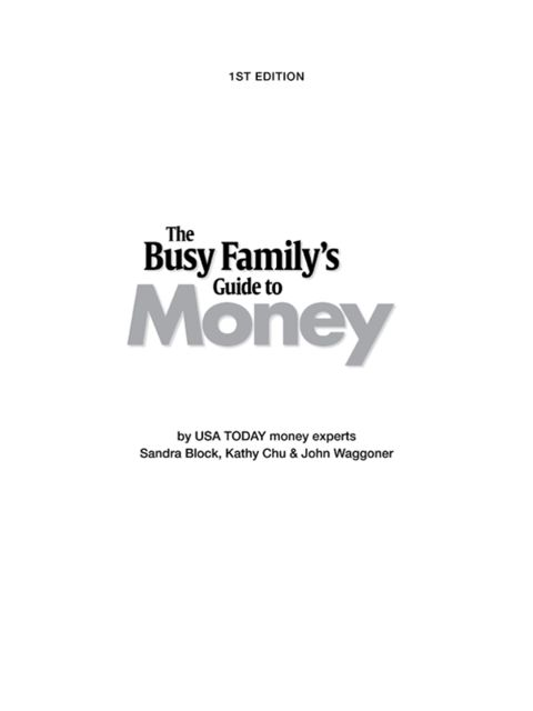 Busy Family's Guide to Money, Sandra Block