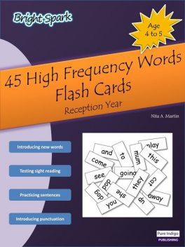 45 High Frequency Words Flash Cards, Nita Martin