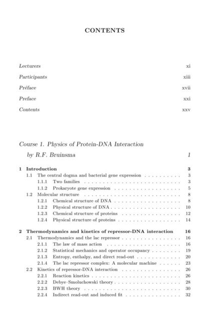 Physics of Bio-Molecules and Cells, R.F.Bruinsma