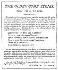 The Olden Time Series, Vol. 5: Some Strange and Curious Punishments / Gleanings Chiefly from Old Newspapers of Boston and Salem, Massachusetts, Henry M.Brooks