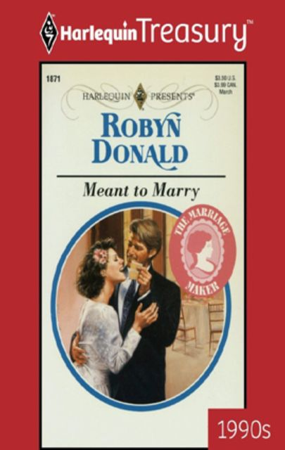 Meant to Marry, Robyn Donald