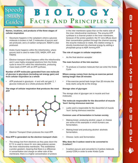 Biology Facts And Principles 2 (Speedy Study Guides), Speedy Publishing