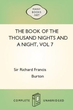 The Book of the Thousand Nights and a Night, vol 7, Richard Burton