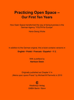 Practicing Open Space - Our First Ten Years, Hans-Georg Wicke