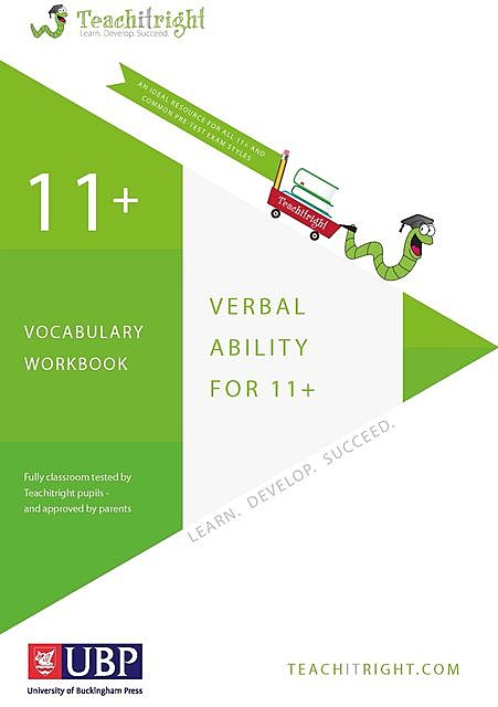 11+ Tuition Guides: Verbal Ability Vocabulary Tests Workbook, Teachitright