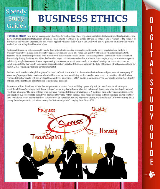 Business Ethics (Speedy Study Guides), Speedy Publishing