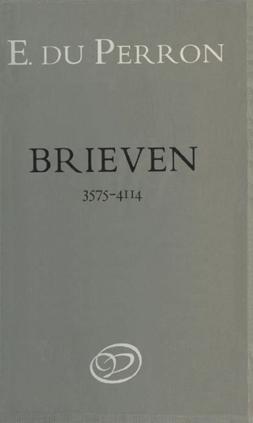Brieven. Deel 8. 3 december 1938–9 mei 1940, E. du Perron