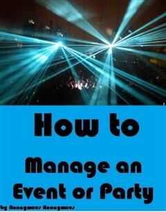 How to Manage an Event or Party, Self Help eBooks