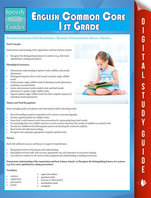 English Common Core 1st Grade (Speedy Study Guide), Speedy Publishing