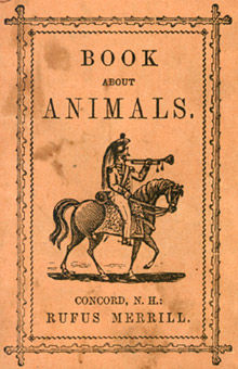 Book about Animals, Rufus Merrill