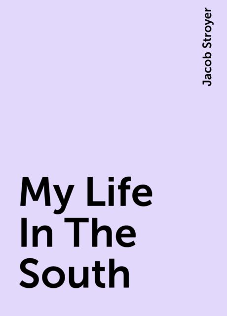 My Life In The South, Jacob Stroyer