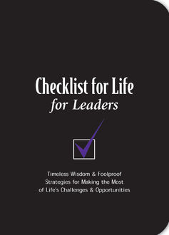 Checklist for Life for Leaders, Checklist for Life