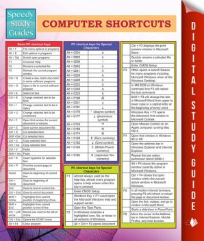 Computer Shortcuts (Speedy Study Guides), MDK Publishing