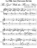 La La Fille Aux Cheveaux De Lin the Girl With the Flaxen Hair Beginner Piano Sheet Music, Claude Debussy