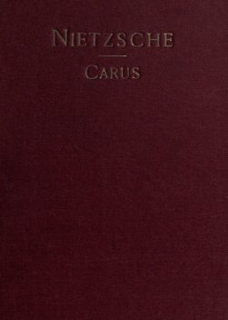 Nietzsche and Other Exponents of Individualism, Paul Carus