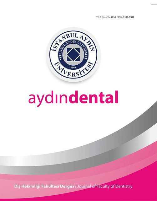 ISTANBUL AYDIN UNIVERSITY JOURNAL OF THE FACULTY OF DENTISTRY, iBooks 2.6