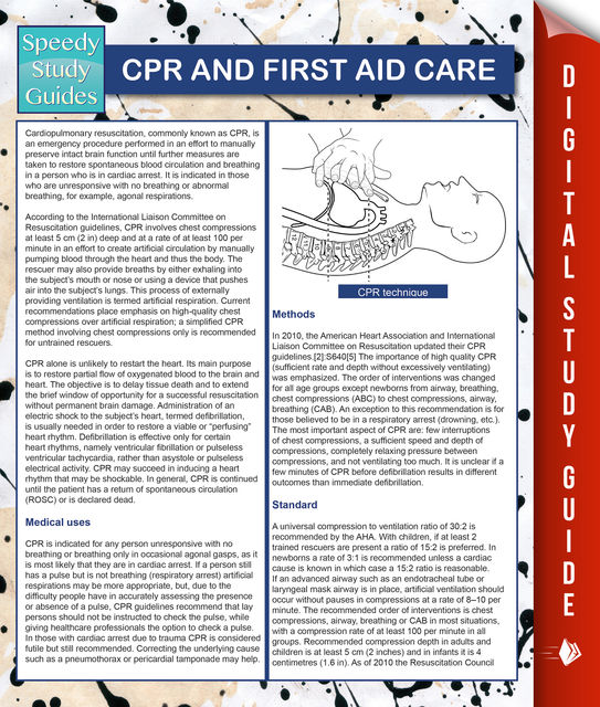 CPR And First Aid Care (Speedy Study Guides), MDK Publishing