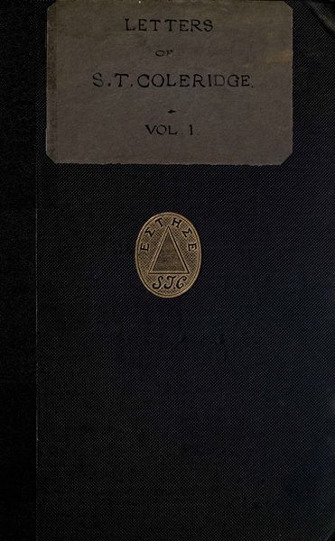 Letters of Samuel Taylor Coleridge, Vol. 1 (of 2), Samuel Taylor Coleridge